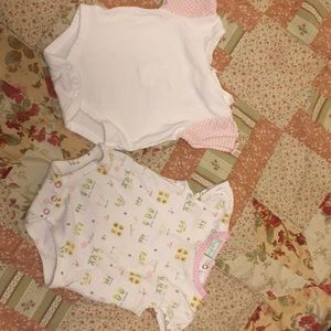 Other - Pink & White Onsie tops